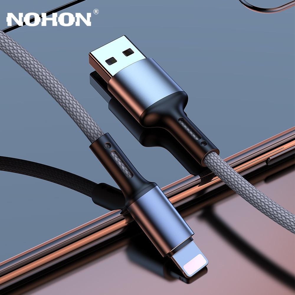 Cable de datos de Cable USB cargador para iPhone X XS X Max XR SE 2020 11 8 7 6 5 S 6S 6S Plus Apple iPad carga rápida de 2m 3m Cable de teléfono móvil
