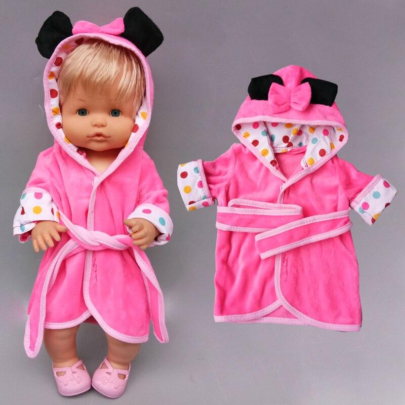 16 polegada boneca do bebê roupão, para 40cm nenuco ropa y su hermanita, boneca de brinquedo, roupas de banho