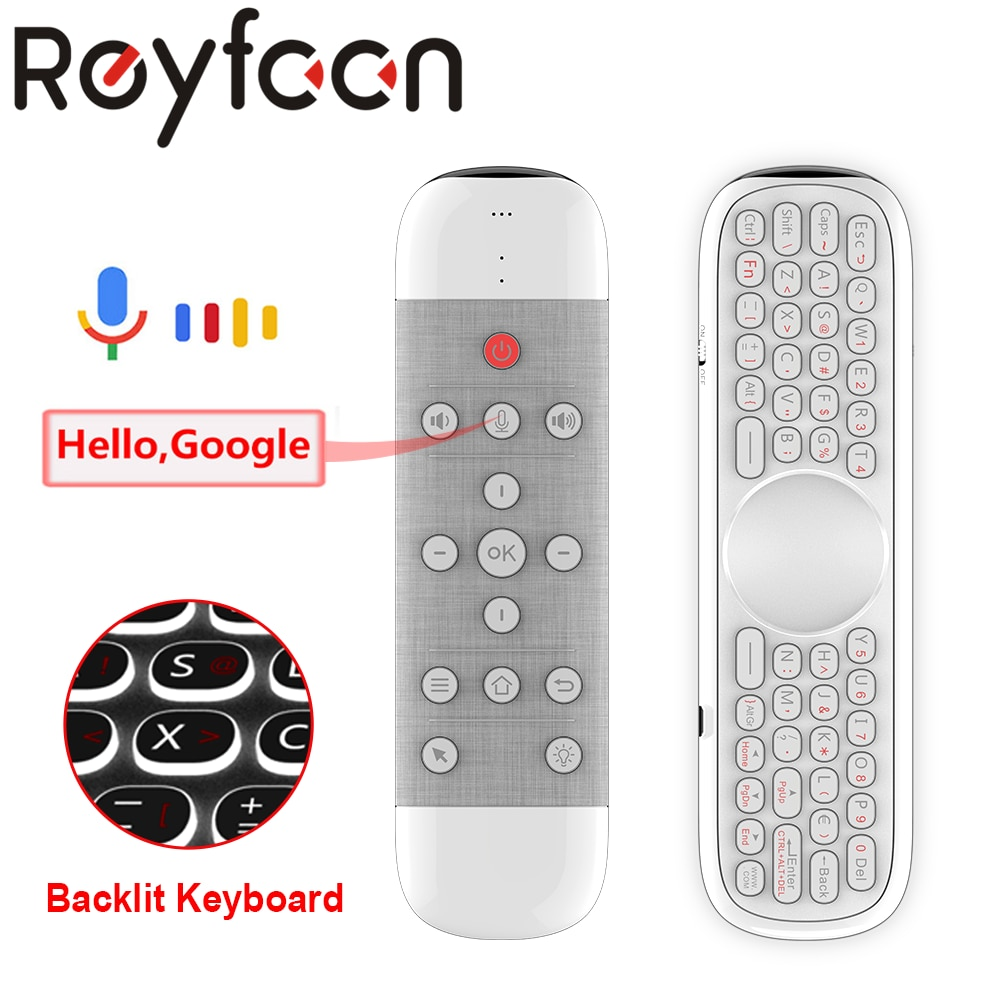 Q40 Voice Remote Control 2.4G Wireless Mini Keyboard with IR Learning Air Mouse Gyros for Android TV