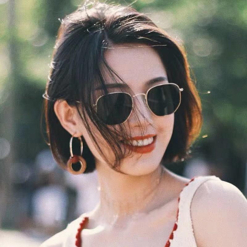 Lentes reflexivas femininas de estilo coreano inflooring wang vermelho celebridade estilo rua snap pequeno rosto-hong kong estilo óculos de sol rou