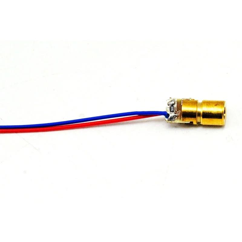 Мини 1 мВт 650 нм красный лазер модуль точка диод светодиод фонари 3 В 6x10 мм