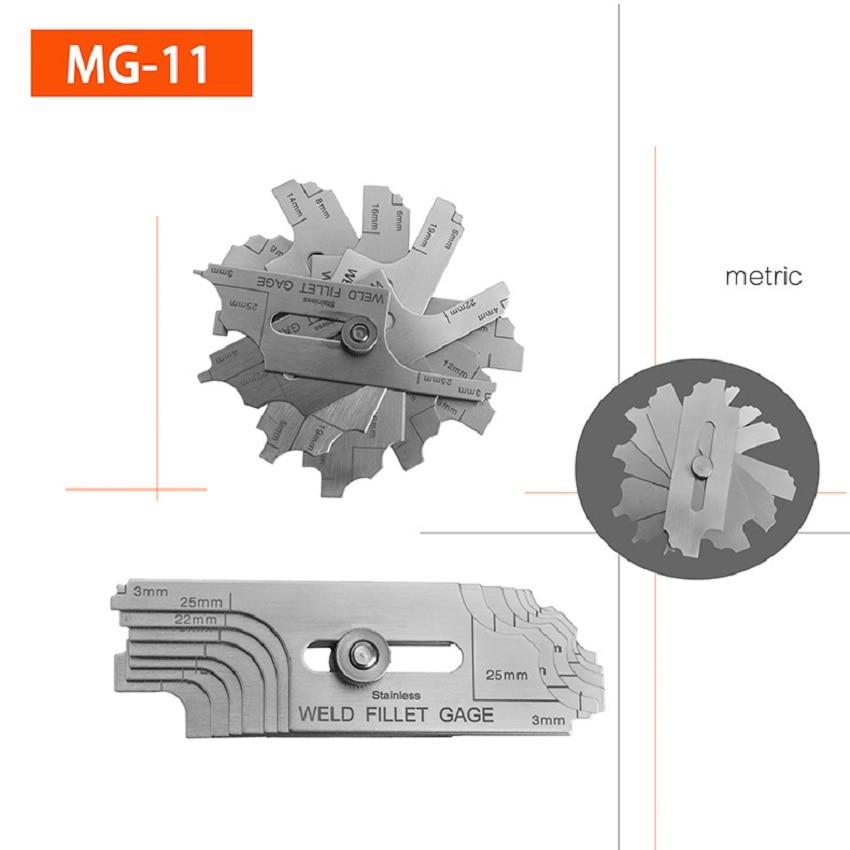 MG-11 de soldadura, medidor de soldadura, medidor de soldadura, regla de soldadura