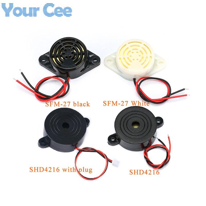 SFM-27 shd4216 DC3-24V 12 v alarme alto-falante eletrônico buzzer beep alarme intermitente contínuo beep para arduino dispositivo anti-roubo