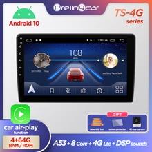 Prelingcar Android 10.0 NO 2 din DVD octa-core autoradio multimédia lecteur vidéo Navigation GPS pour HYUNDAI H1 2010 11 12 13 14