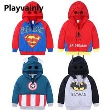 Spring Autumn 2021 Children Hoodie Coat Baby Boys Cartoon Zipper cardigan coat Boy Clothes E100234