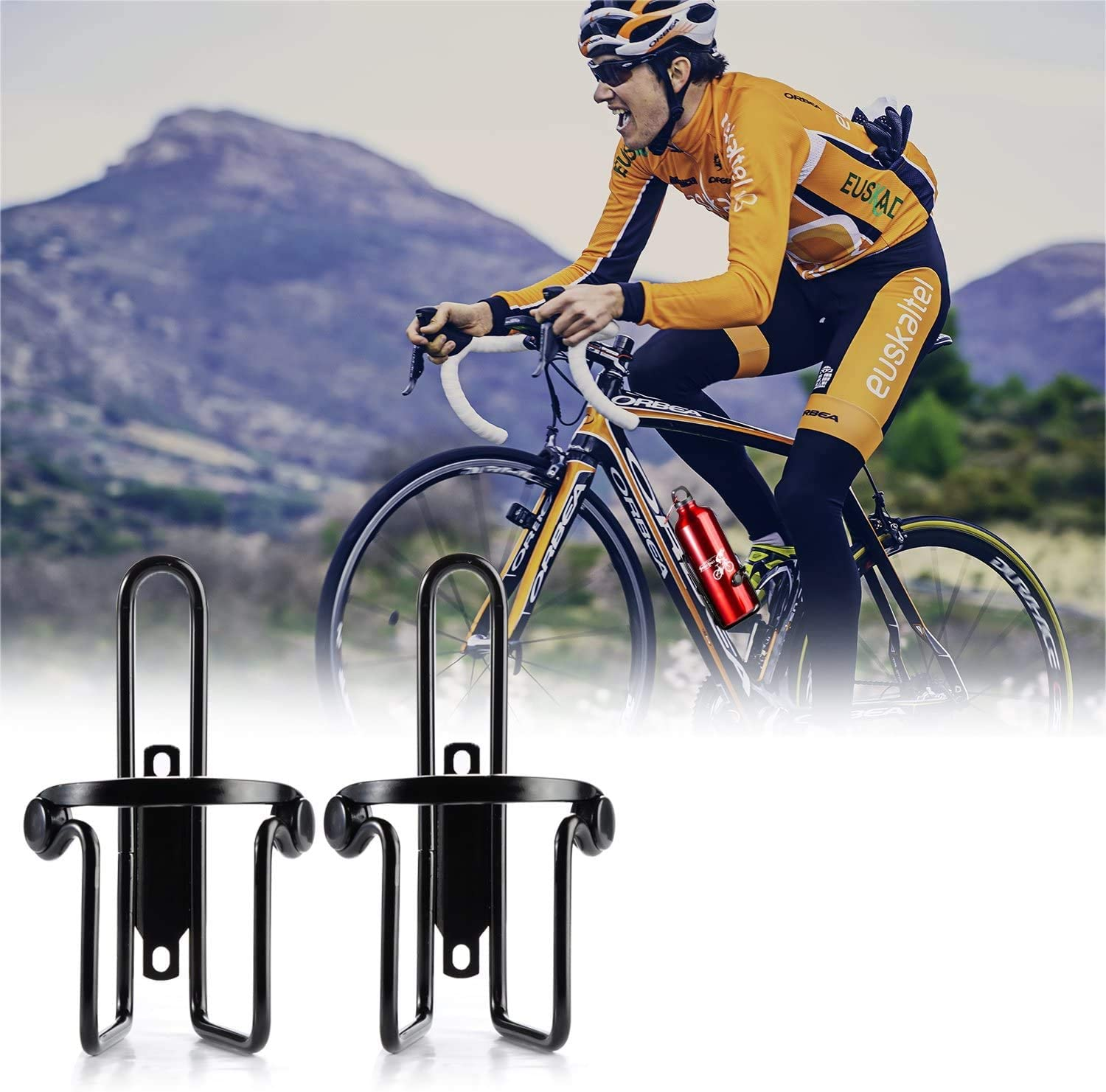 bike bottle cage aluminum alloy integrated molding mtb road bike cycling water bottle cage bottle holder bicycle accessories Bicycle Water Bottle Holder Aluminum Alloy Bike Bottle Cage Universal MTB Road Bike Bottle Holder Outdoor Cycling Accessories