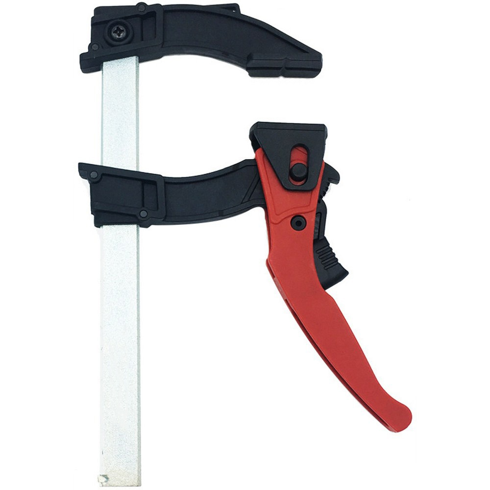 Heavy‑duty Ratchet F Clamp Woodworking Clamp Tools Quick Grip F Style Bar with Plastic Grip Wood Clamp Adjustable 120 Degrees