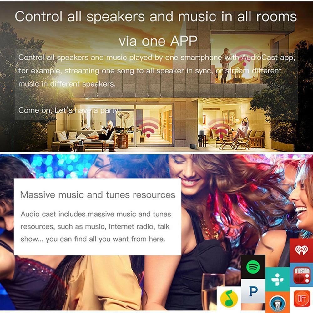 Receptor y transmisor de música Audiocast Airplay DLNA, transmisión de música Airmusic, Audio para iOS, Android, Compatible con WIFI Z1E6