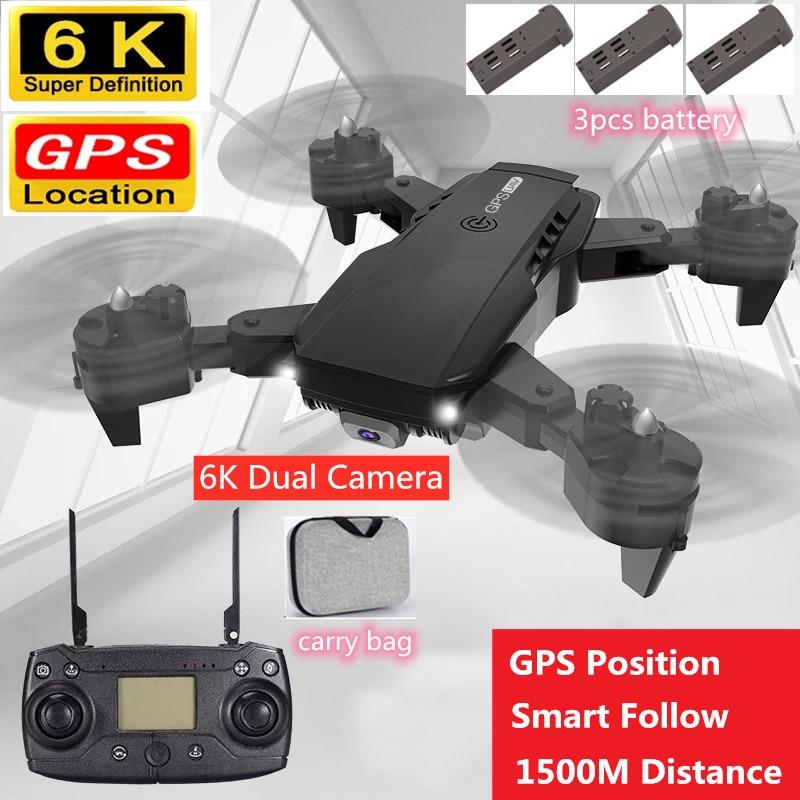GPS 6K Dual ESC Camera Aerial Photagraphy RC Quadcopter 1.5KM Distance GPS Position Smart Follow Me Optical Flow Toy VS S189 PRO