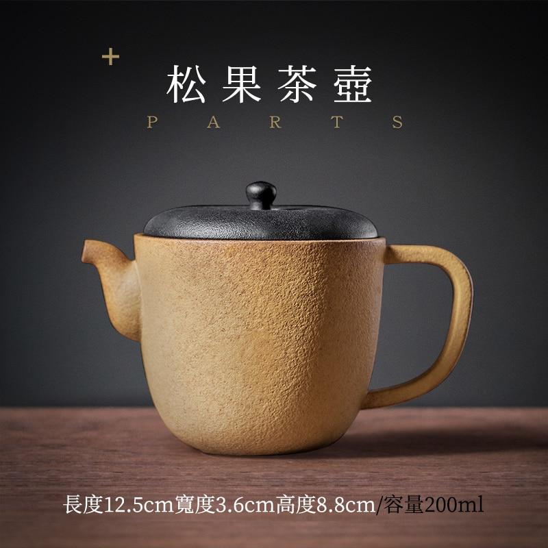 Tetera de filtro hecha a mano Tetera de cerámica Simple china estilo...