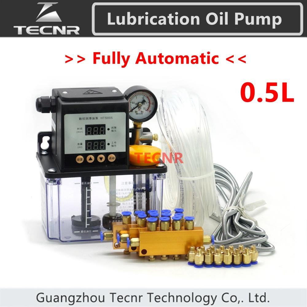 Full set CNC Automatic Lubrication oil pump 0.5L cnc machine electromagnetic lubrication pump lubricator TECNR