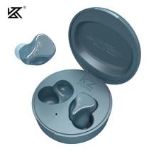 Плотным верхним ворсом KZ SKS наушники вкладыши TWS True Беспроводной Bluetooth 5,2 наушники 1DD + 1BA гибридная игровая вкладыши сенсорный Управление Спортивная гарнитура плотным верхним ворсом KZ Z3 S2 S1 SA08 E10 Z1