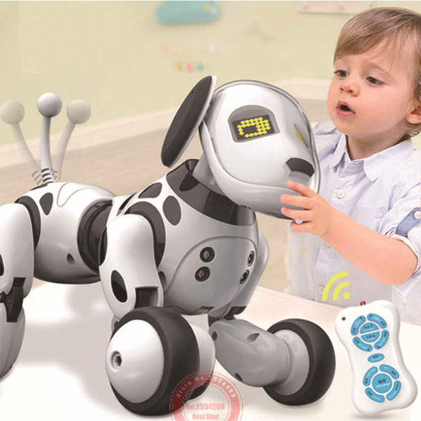 Programable 2.4G Wireless Remote Control Smart animals toy robot dog  remote control toys kids toys Electronic toys
