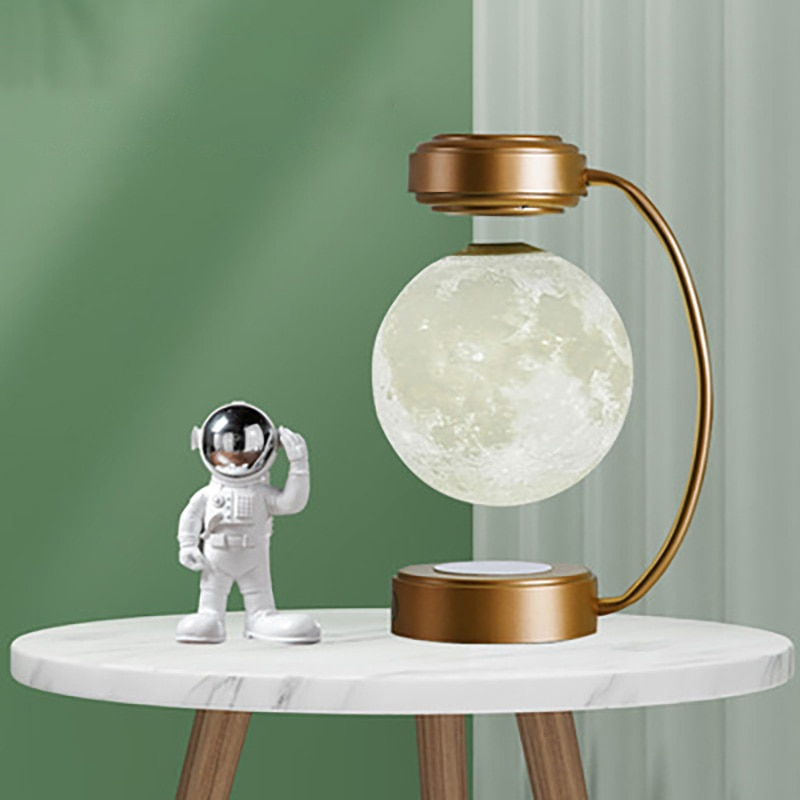 Creativity Magnetic Levitation Moon Lamp LED Rotating Dangling Moon Night Light Home Novelty Decoration Children's Holiday Gifts