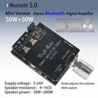 mini bluetooth 5 0 wireless audio digital power amplifier stereo board 50wx2 bluetooth amp amplificador zk 502l