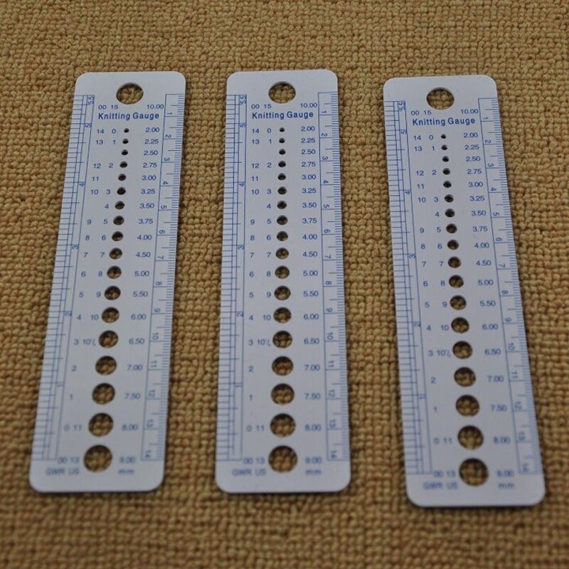1 pieza de regla todo en uno 2-10mm EE. UU. Reino Unido Canadá tamaños aguja de tejer calibre pulgadas cm