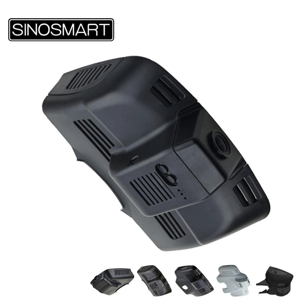 SINOSMART 96672 واي فاي كاميرا DVR لمرسيدس بنز E الفئة W212 W213 W204 220D AMG الخ APP التحكم سوني IMX323