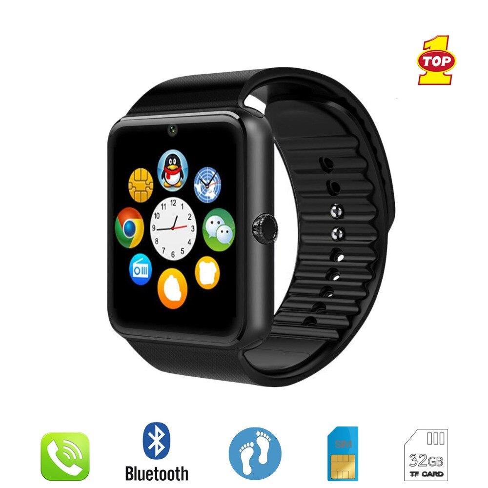 Reloj inteligente GT08 con Bluetooth, reloj de pulsera deportivo, soporte para cámara 2G SIM TF, reloj inteligente para teléfono Android