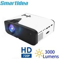 Smartldea UB20 3000lumens Mini projecteur HD natif 1280x720p portable jeu proyector support 1080p home cinema video 3D beamer