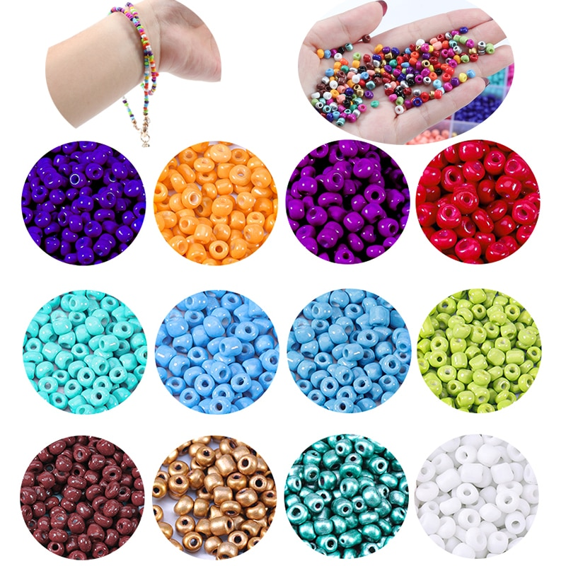 720pcs lot 2mm austria opaque round hole glass bead solid color czech glass seed spacer diy beads for kids jewelry making decor 1000PCS 2.5/3/4mm Czech Glass Seed Beads Miyuki Beads For Jewelry Making Big Hole Bead Spacer DIY Beads For Kids Jewelry Making