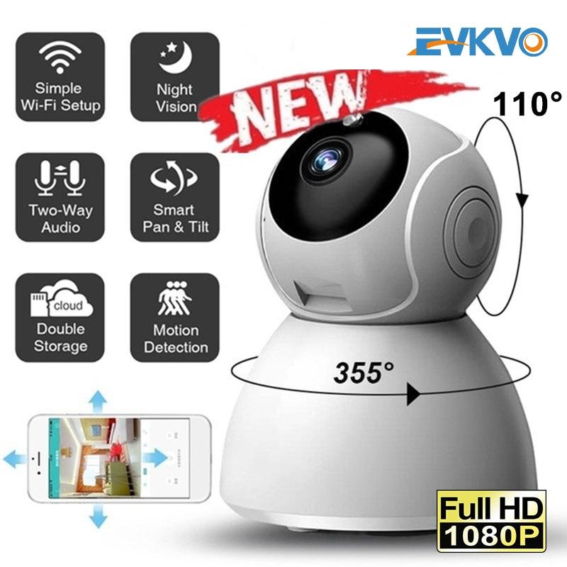 EVKVO 2MP Ai-تتبع واي فاي كاميرا IP لاسلكية عموم/إمالة تدوير كاميرا مراقبة للمنزل للرؤية الليلية سحابة P2P كاميرا تلفزيونات الدوائر المغلقة V380 App