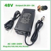 48V Li-ion Battery Charger Output 54.6V 3A for 48V Electric Bike Lithium Battery Pack  3 Pin Female