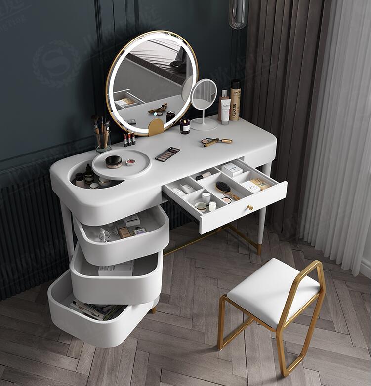 Многофункциональный туалетный столик с лампой туалетный столик в спальню шкафчик для хранения документов (Интегральные туалетный столик