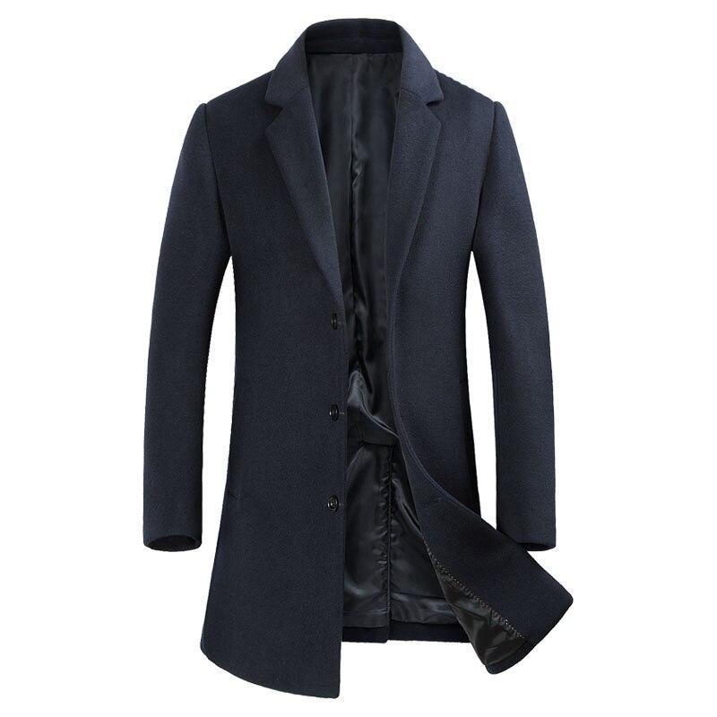 Abrigo largo y elegante Para Hombre, Abrigo De Invierno De alta calidad...