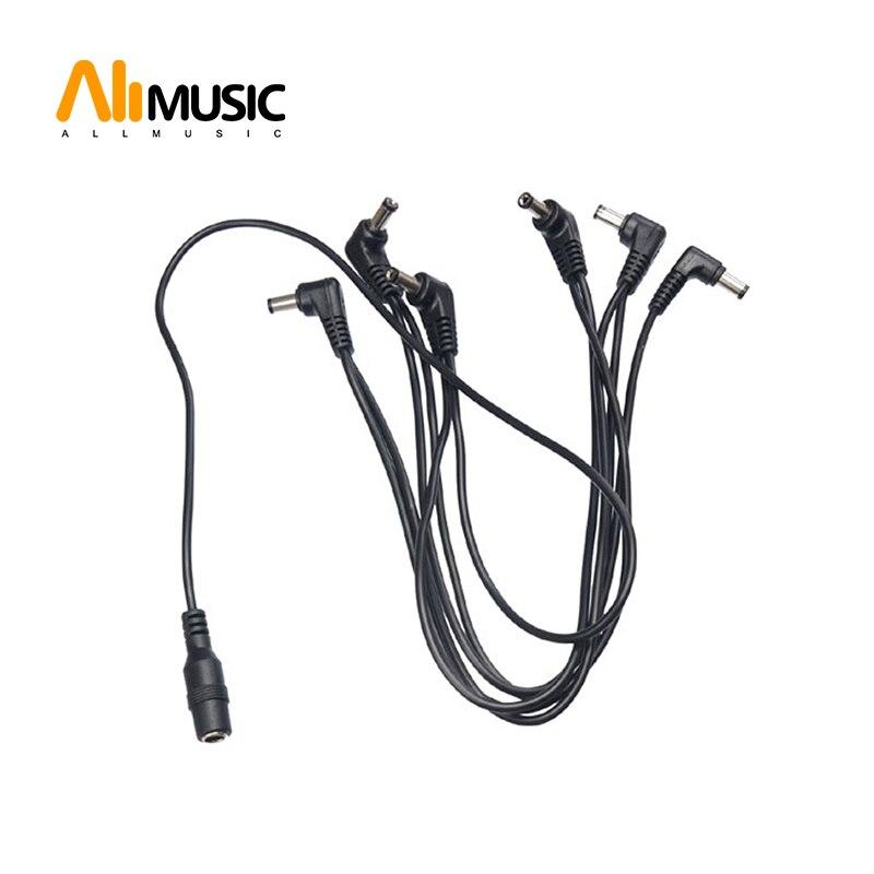 VITOOS arnés guitarra Cables NEGRO 6 maneras electrodo Margarita Cable de cadena para guitarra Pedal efecto adaptador de corriente gran venta