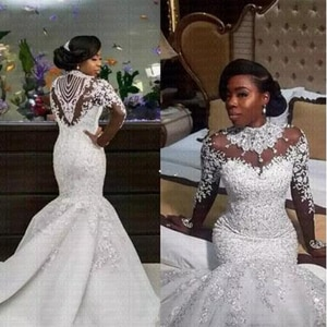 2019 Illusion Mermaid  Wedding Dress With Appliques Lace Beading  Sweetheart Off  The  Shoulder Zipper robe de mariage