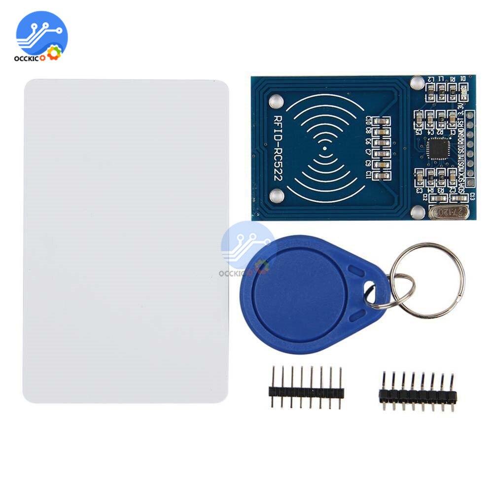 Módulo RFID RC522 Kits de RC-522 módulo con etiquetas de tarjeta IC SPI escribir y leer para Arduino proximidad llavero para tarjeta de acceso de puerta