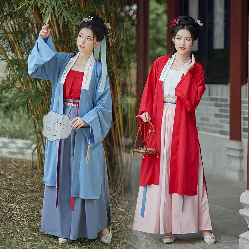 Ancient Chinese Costume Fairy Women Cosplay Hanfu Dress Retro Tang Suit Girls Song Dynasty Princess Folk Dance Clothes