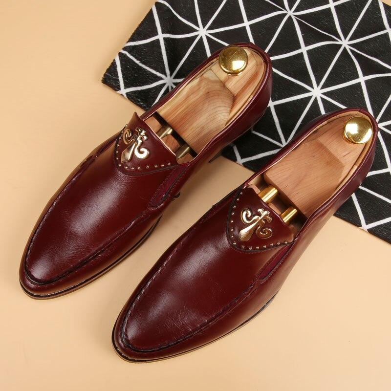 luxury tassel formal shoes men loafers italian wedding shoes men dress leather shoes men elegant Oxford shoes Brogue shoes