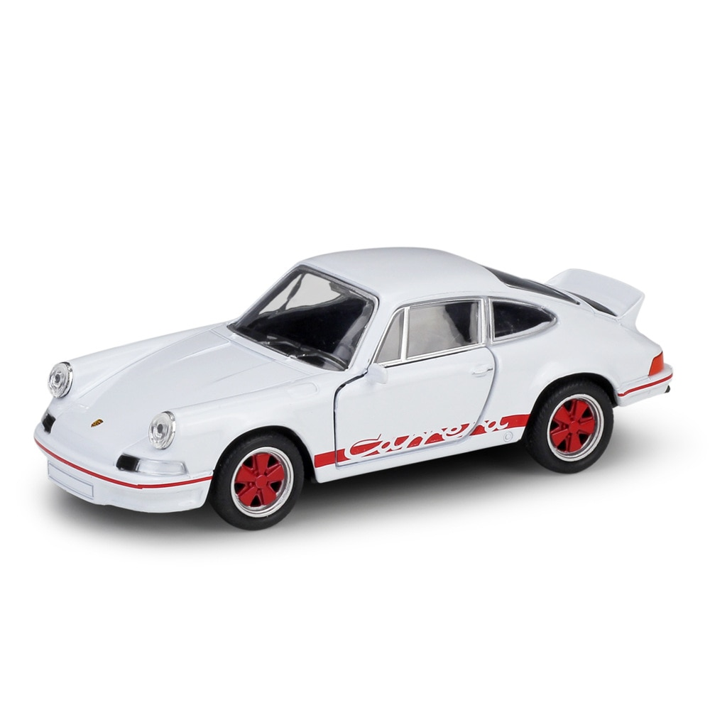 Welly 136 caja Original 1973 Carrera RS blanco coche fundido modelo de coche de juguete modelo de vehículo modelos de coche para niños