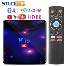 STUOTOP K10 2020 yeni android akıllı tv kutusu android 9.0 4k 8k 4gb 32gb 64gb 128gb amlogic s905x3 set-top kutusu youtube medya oynatıcı