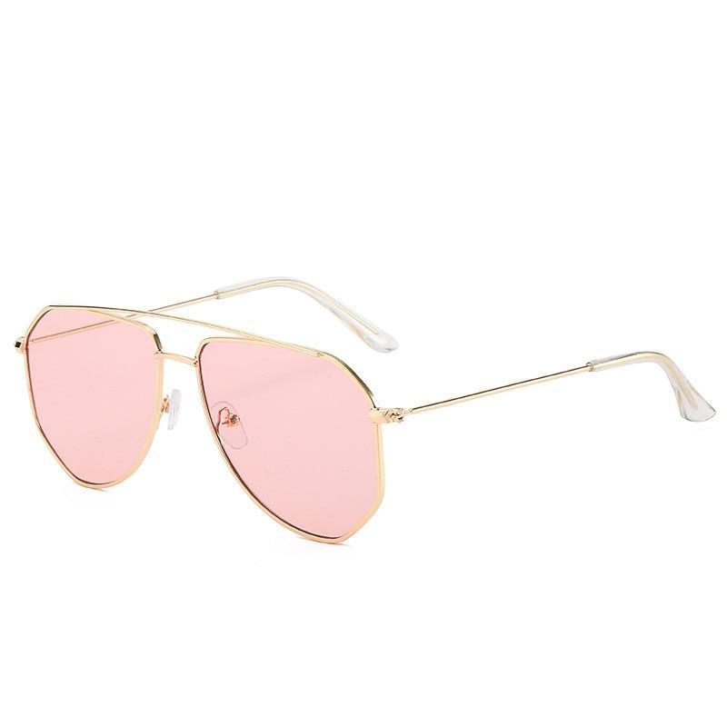 OLOEY Fashion Metal Sunglasses Women Ocean Water Lens Oversized Street Shooting Sun Glasses Designer