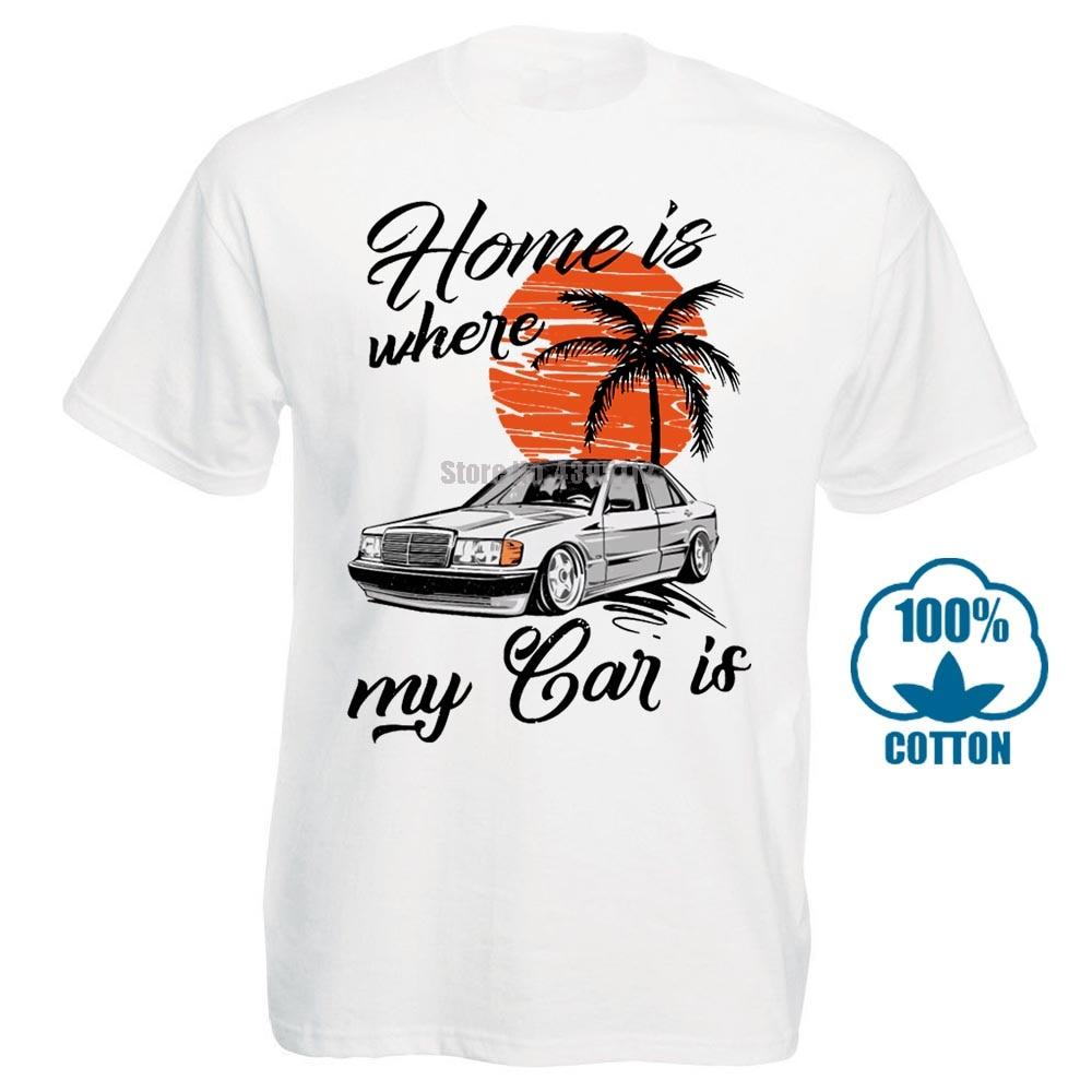 W201 camiseta Mercedes Car camisetas moda nueva llegada gran oferta Casual 100% algodón camiseta de talla grande cuello redondo 010025