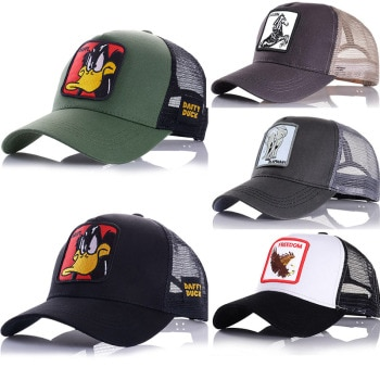 2021 Spring Animals Embroidery Men's Baseball Cap Women Hat Snapback Hip Hop Cap Summer Mesh Hat Trucker Cap Bone Dad Hat Gorras