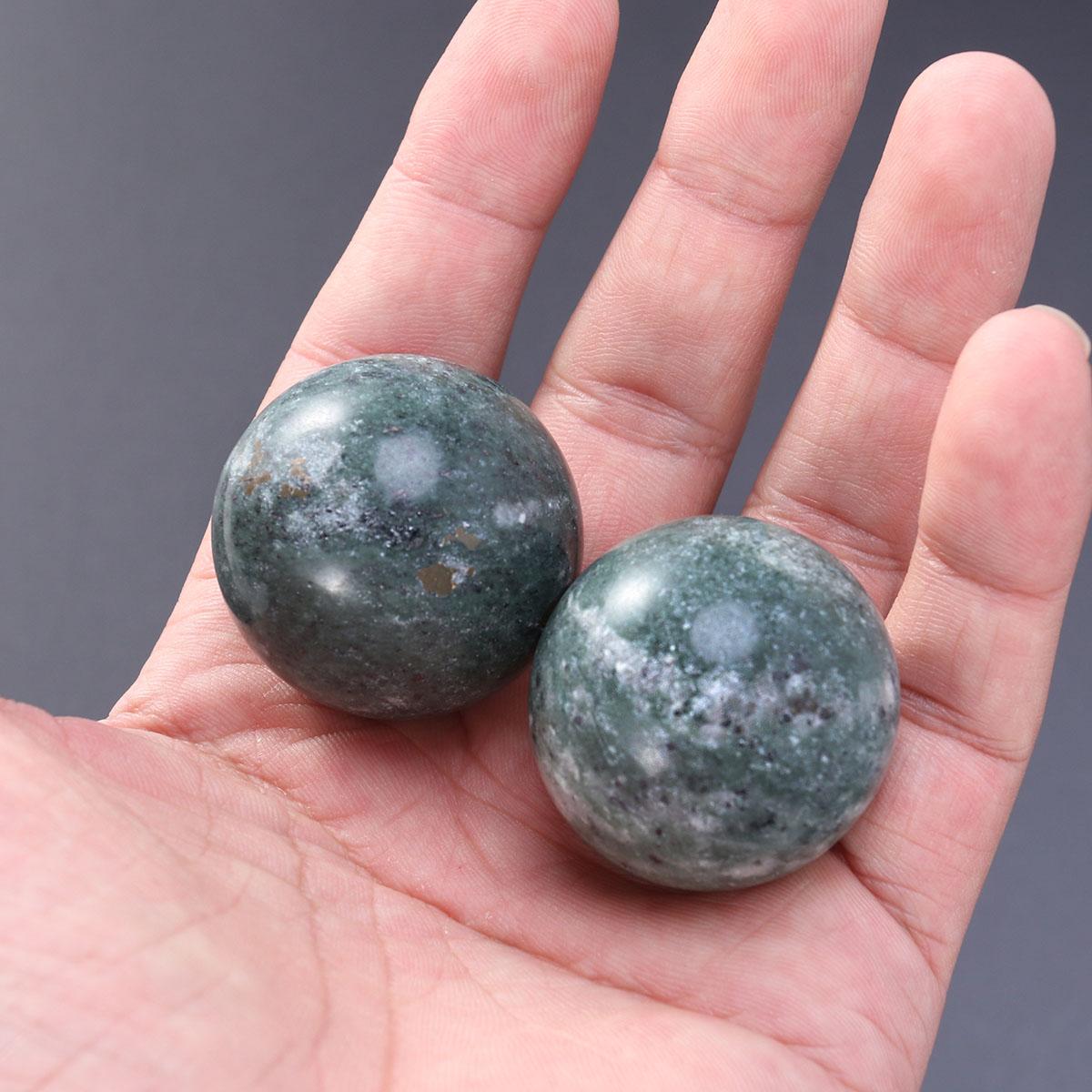 2 шт. мяч для ухода за здоровьем для пожилых людей нефритовый мяч для упражнений для здоровья мяч для снятия стресса для Oldman (черный)