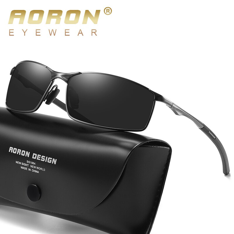 Aoron Polarized Sunglasses Mens/Women Driving Mirror Sun Glasses Metal Frame Goggles UV400 Anti-Glar