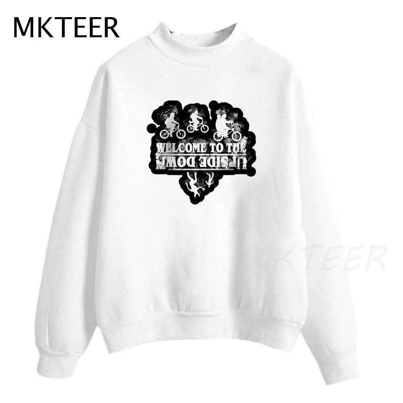 Stranger Things Harajuku Print Funny Sweatshirts Streetwear Unisex Women Sweatshirts Casual Tops Pullovers Women's Hoodies