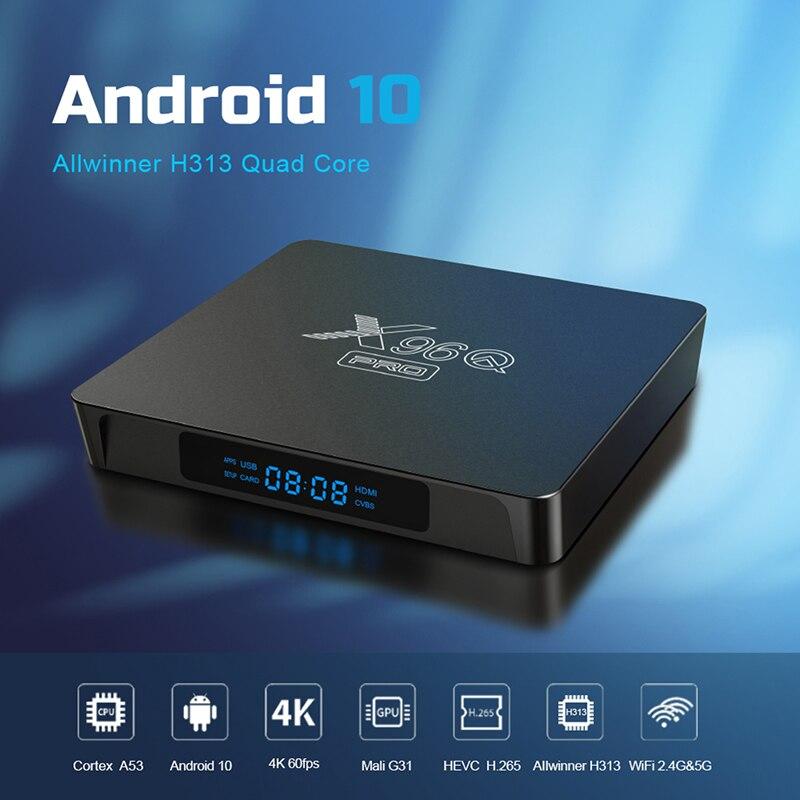 X96Q أندرويد 10.0 صندوق التلفزيون نيوكس علبة تلفزيون بروتوكول الإنترنت 10 نيو تي في برو 1G 8G 2G 16G نيو سمارت IP TV فك التشفير صندوق H313 شبكة التلفزيون فك ...