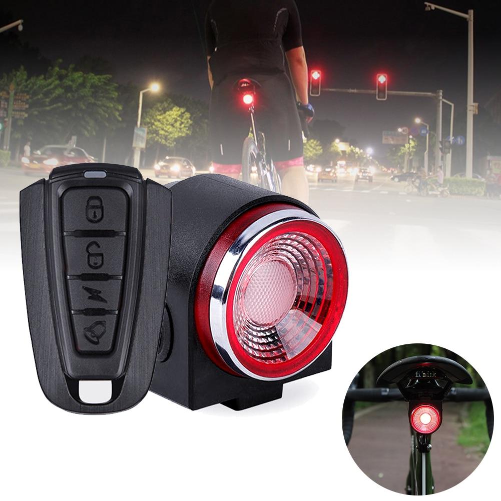 Alarma antirrobo A8 para bicicleta de carretera de luz trasera de freno...