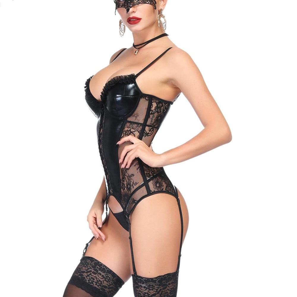 Conjunto de lencería Sexy para mujer, corsés Sexy, ropa de Stripper, Bustiers Steampunk, corsé, Top para mujer, Burlesque, ropa interior, Push Up