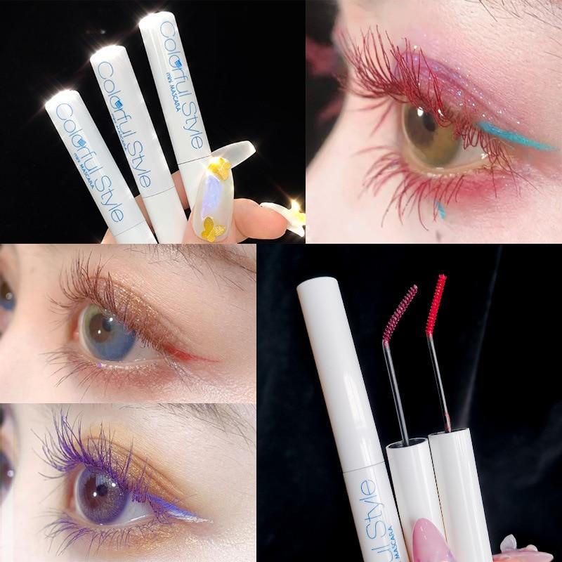AliExpress - Xixi colorful mascara white apperance with super slim eyelash brush long lasting waterproof red blue brown black mascara AC213