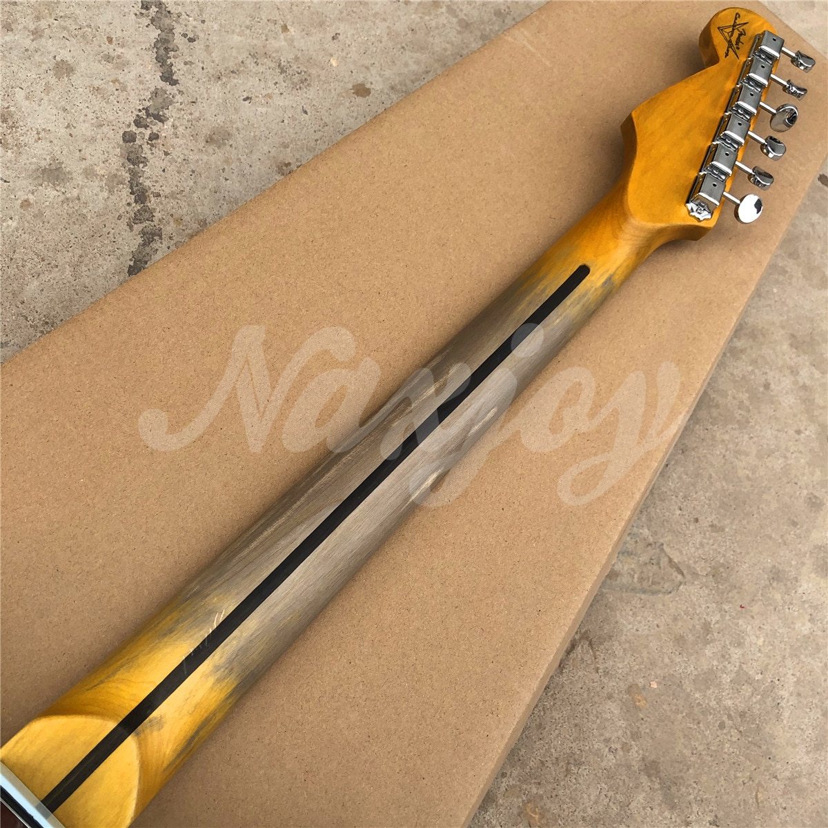 Factory Handmade Relic Remains Neck Solid ST Electric Guitar,Real photos,Free shipping enlarge