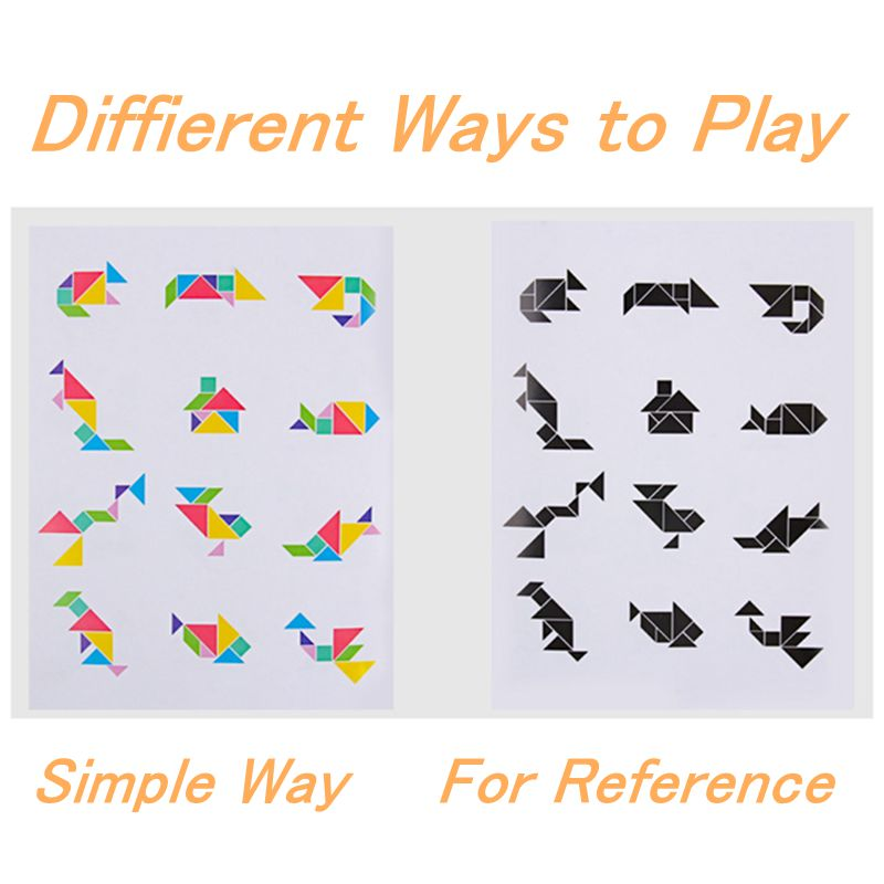 Magnetic 3D Puzzle Jigsaw Tangram Thinking Training Game Kids Toys Baby Montessori Learning Educational Wooden Toys for Children enlarge
