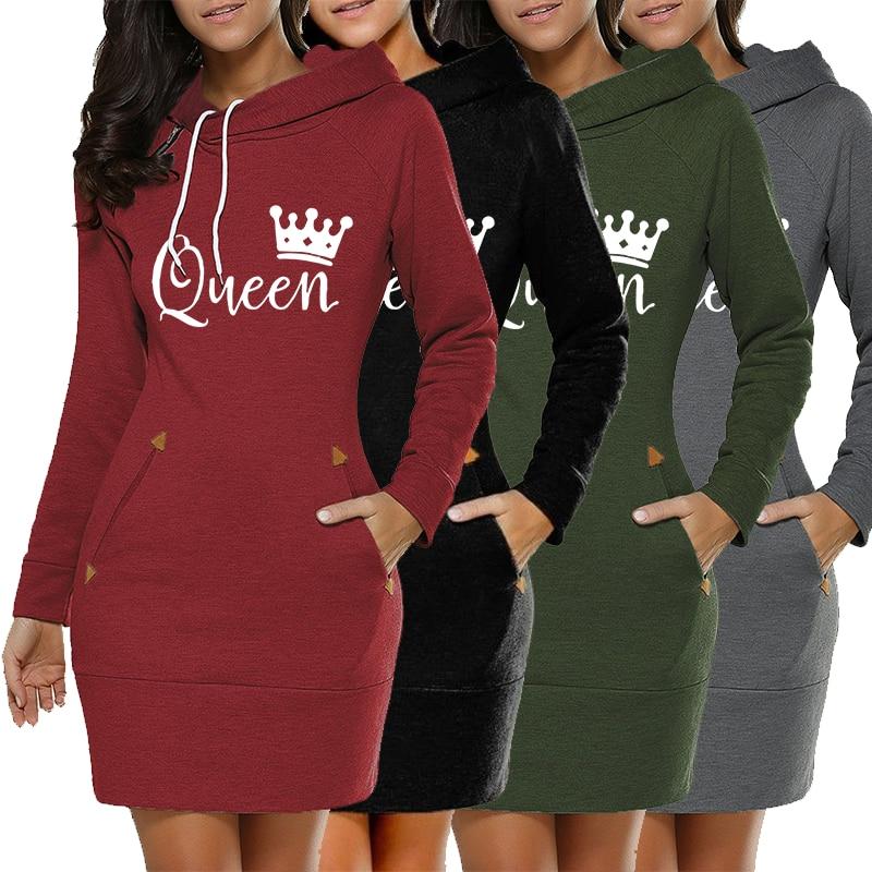 Senhoras da moda 2020 outono e inverno estilo quente casual impresso camisola vestido de uma peça saia senhoras vestido roupas das senhoras
