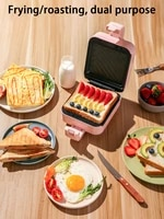 electric non stick sandwich maker multi function breakfast machine for household use fry and bake pressure toaster waffle maker