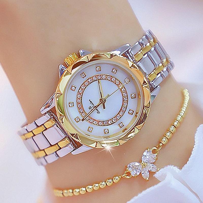 Diamond Women Watch Luxury Brand 2020 Rhinestone Elegant Ladies Watches Rose Gold Clock Wrist Watches For Women relogio feminino